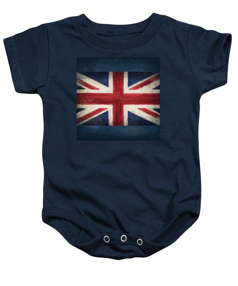 Abstract Baby Onesie featuring the photograph England Flag by Setsiri Silapasuwanchai