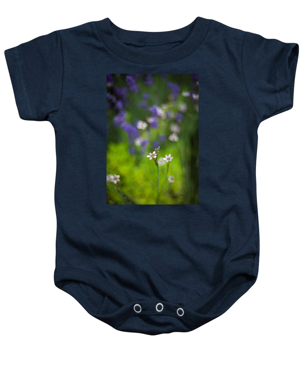 Flower Baby Onesie featuring the photograph Garden Of Bliss by Mike Reid
