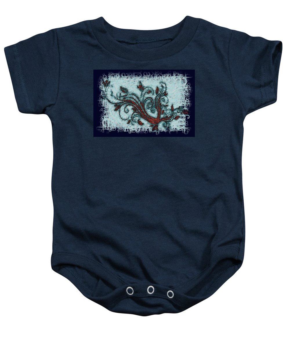 Weeds Baby Onesie featuring the digital art Weeds by Bill Cannon