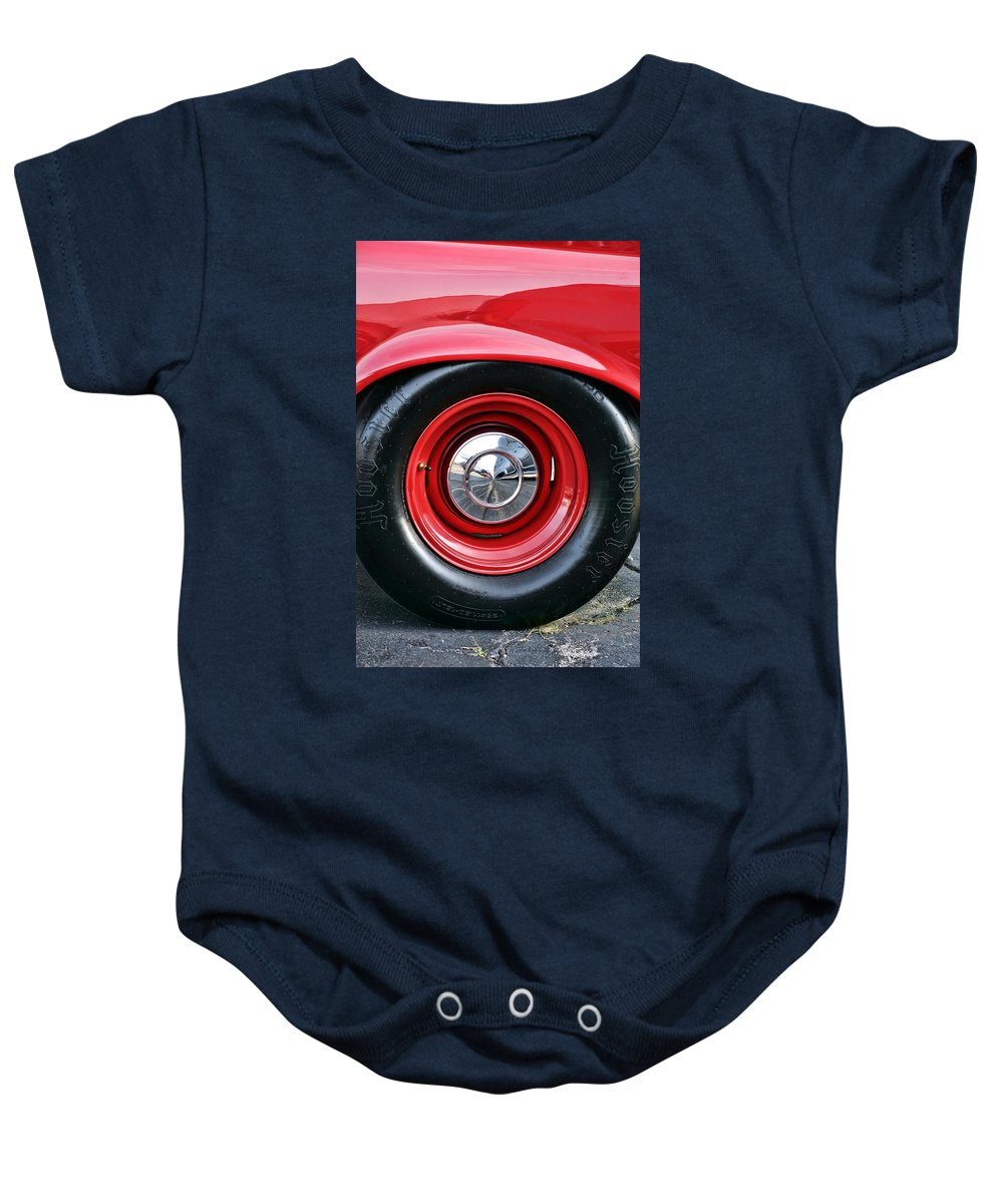 1964 Baby Onesie featuring the photograph 1964 Plymouth Savoy by Gordon Dean II