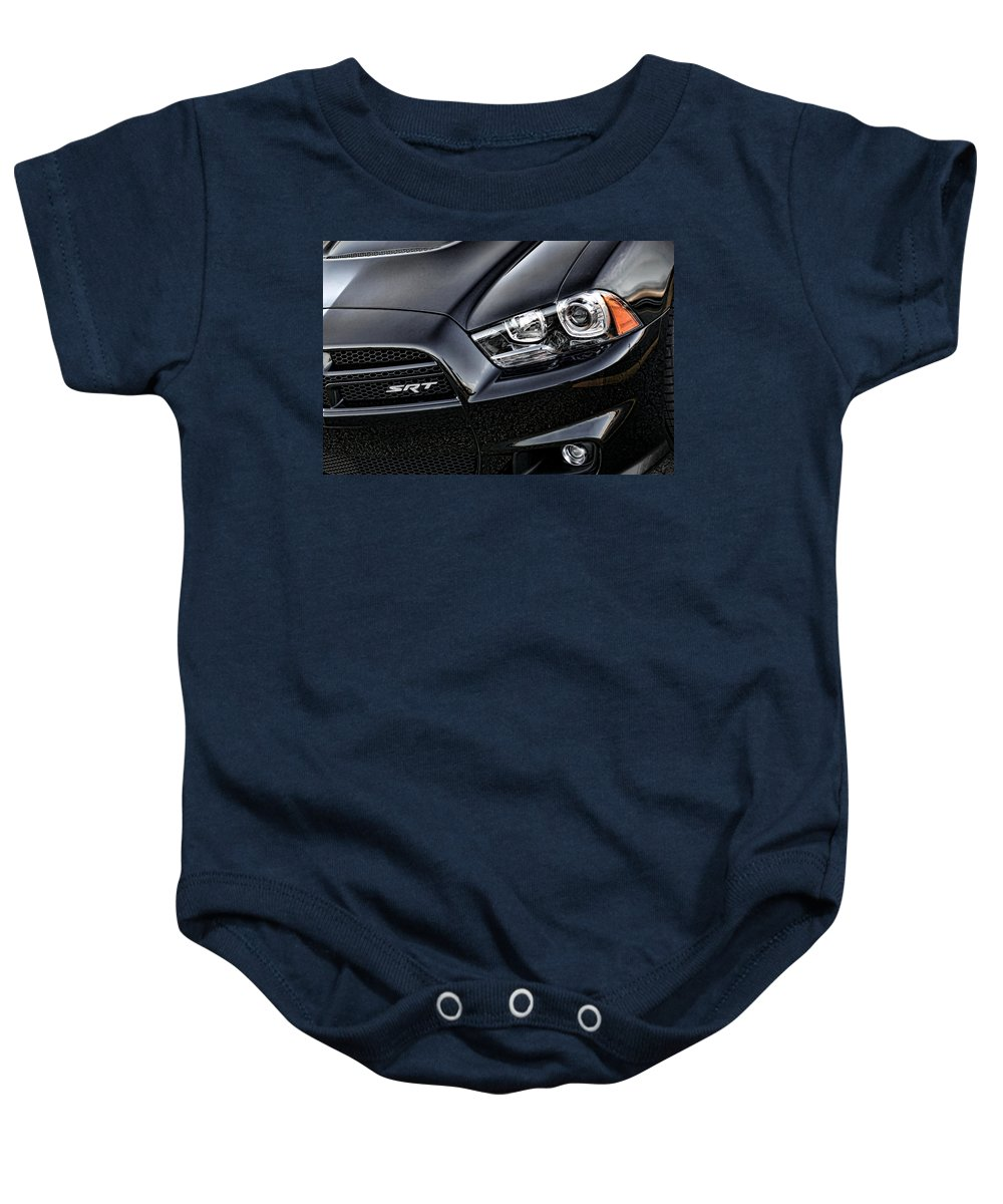 2011 Baby Onesie featuring the photograph 2012 Dodge Charger Srt8 by Gordon Dean II