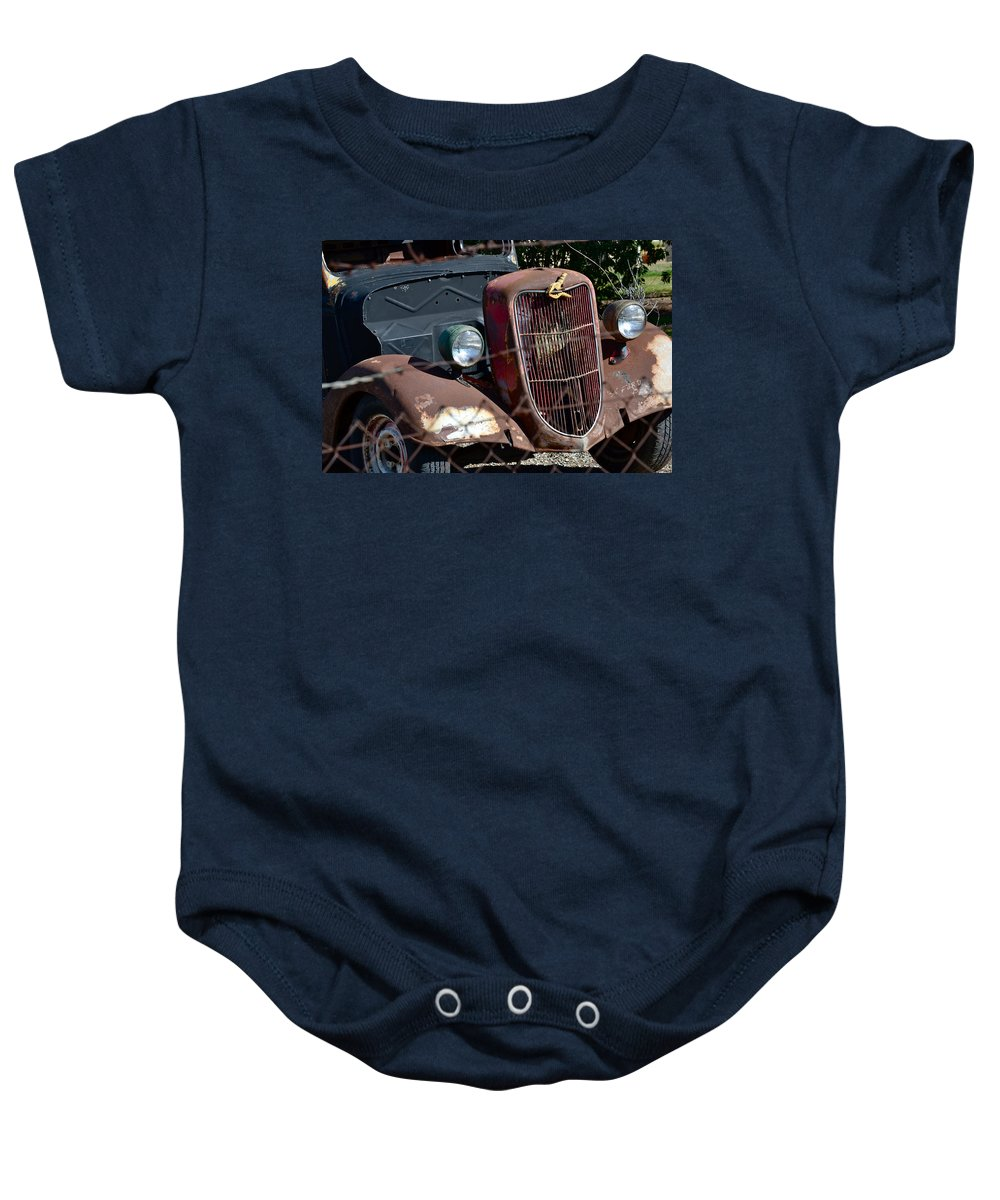 1936 Ford Baby Onesie featuring the photograph '36 Ford II by Bill Owen