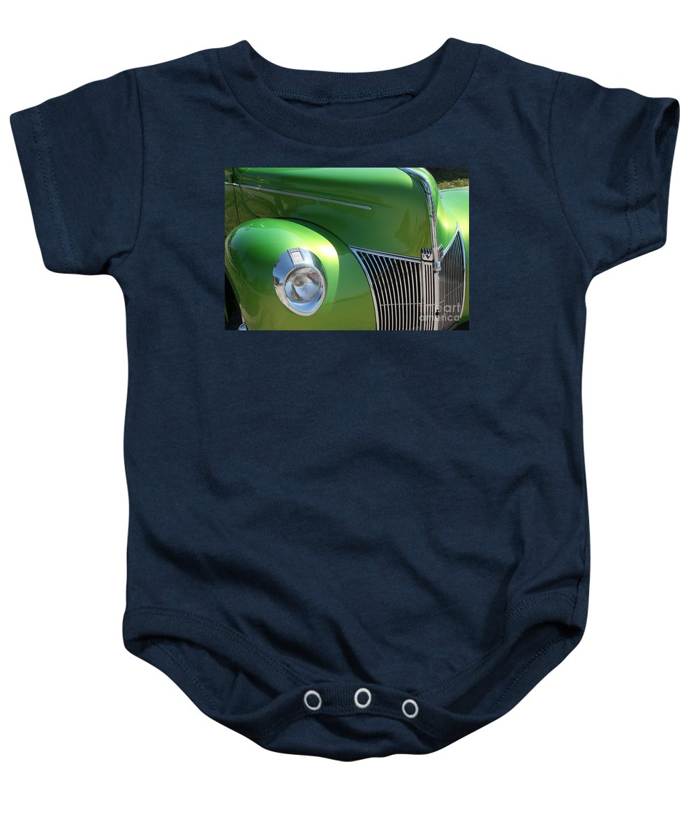 1940 Baby Onesie featuring the photograph 40 Ford - Front Pass Angle-8651 by Gary Gingrich Galleries