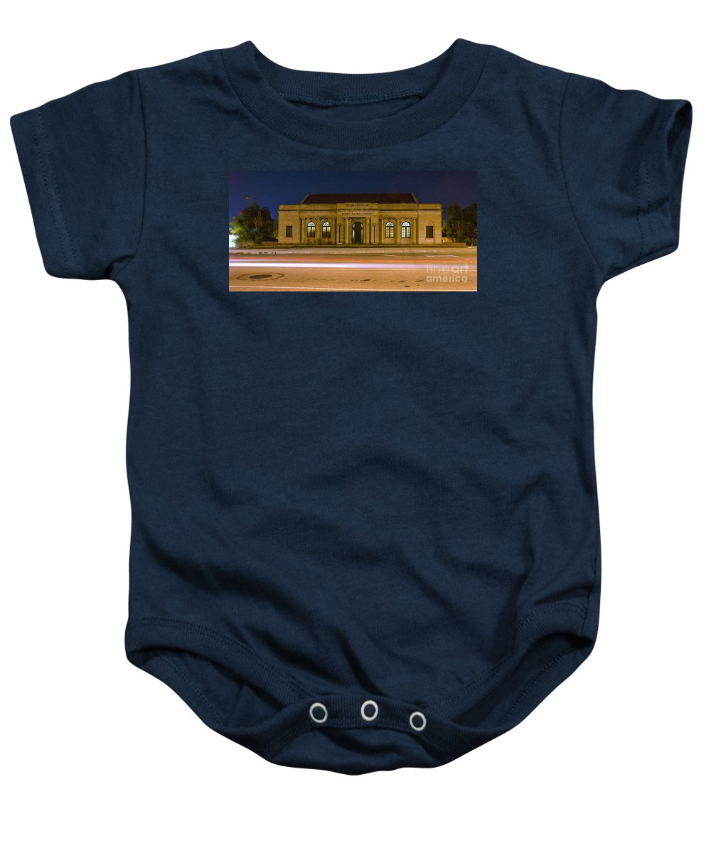 Train Baby Onesie featuring the photograph 50 Years Past Train Time by Tim Mulina