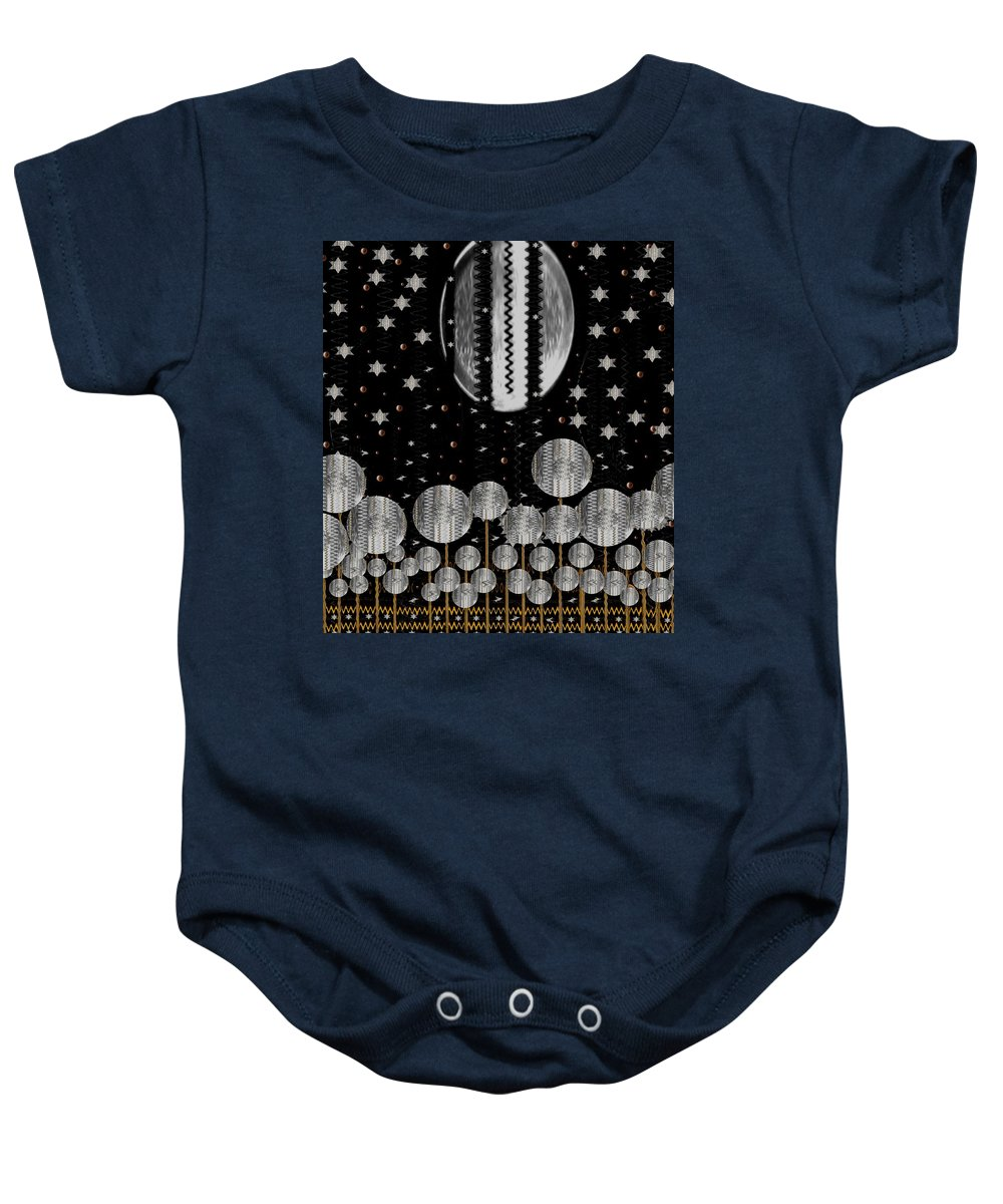 Moon Baby Onesie featuring the mixed media A Wonderful Night by Pepita Selles