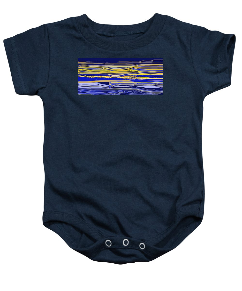 Abstract Baby Onesie featuring the digital art Afternoon Stretch by Ian MacDonald