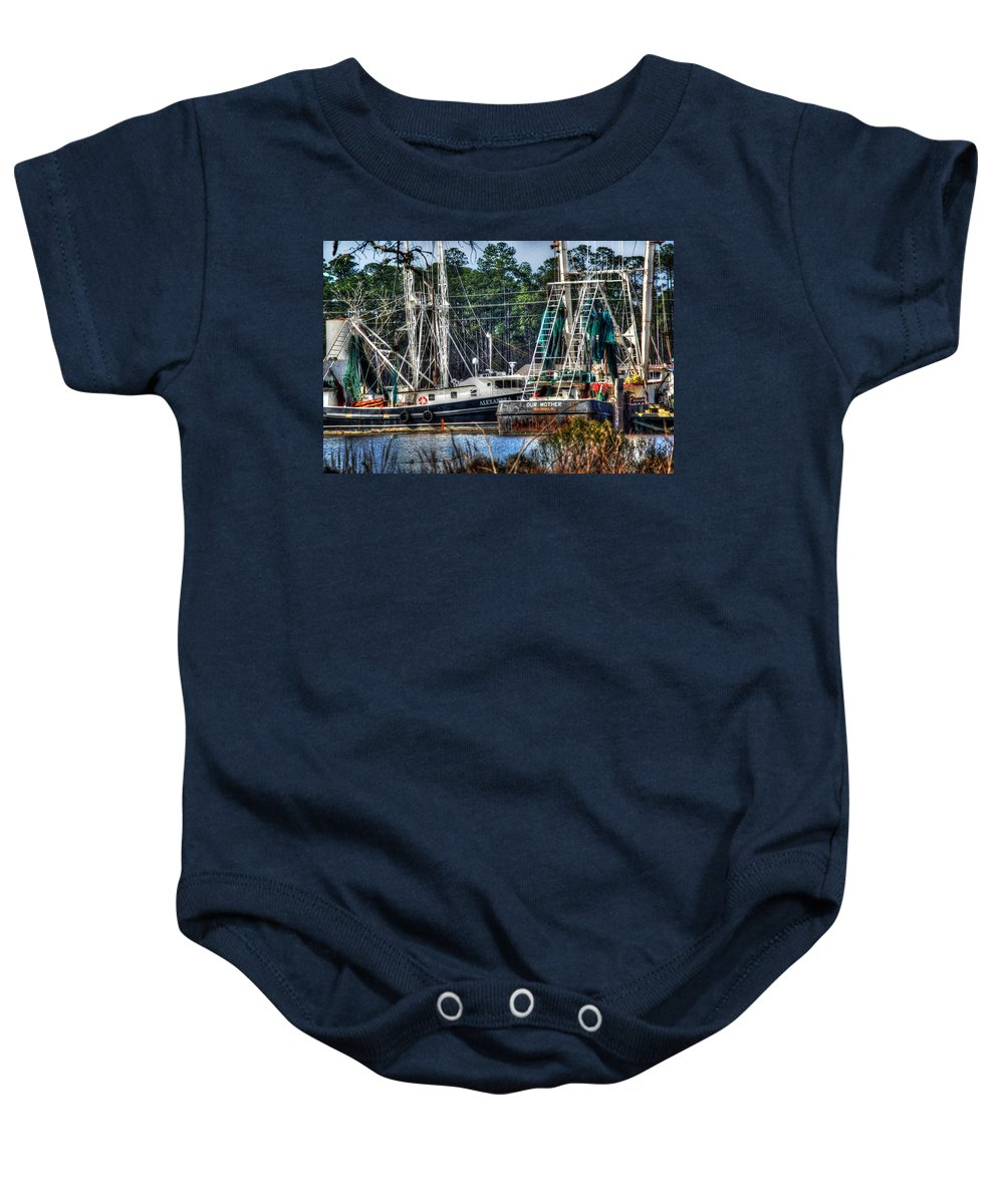 Alabama Photographer Baby Onesie featuring the digital art Alexandra Pearl And Our Mother by Michael Thomas