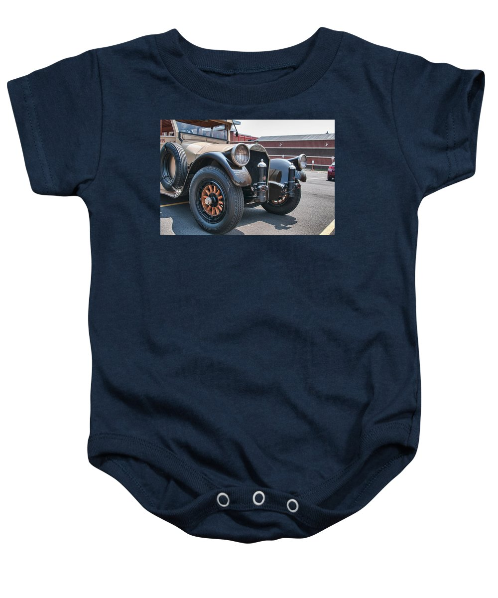 Buffalo Baby Onesie featuring the photograph Arrow Bus 15642 by Guy Whiteley