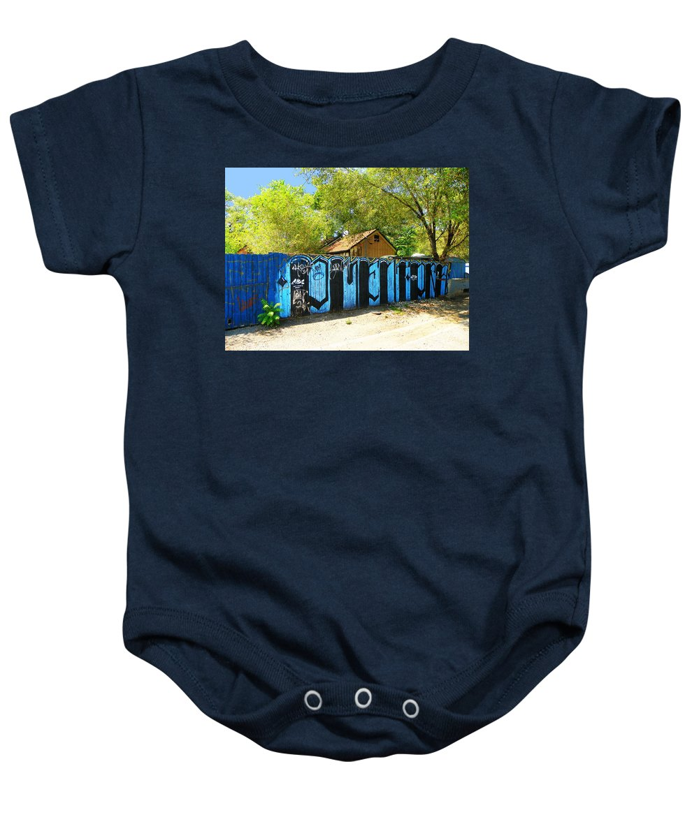 Expressive Baby Onesie featuring the photograph Art Alley by Lenore Senior