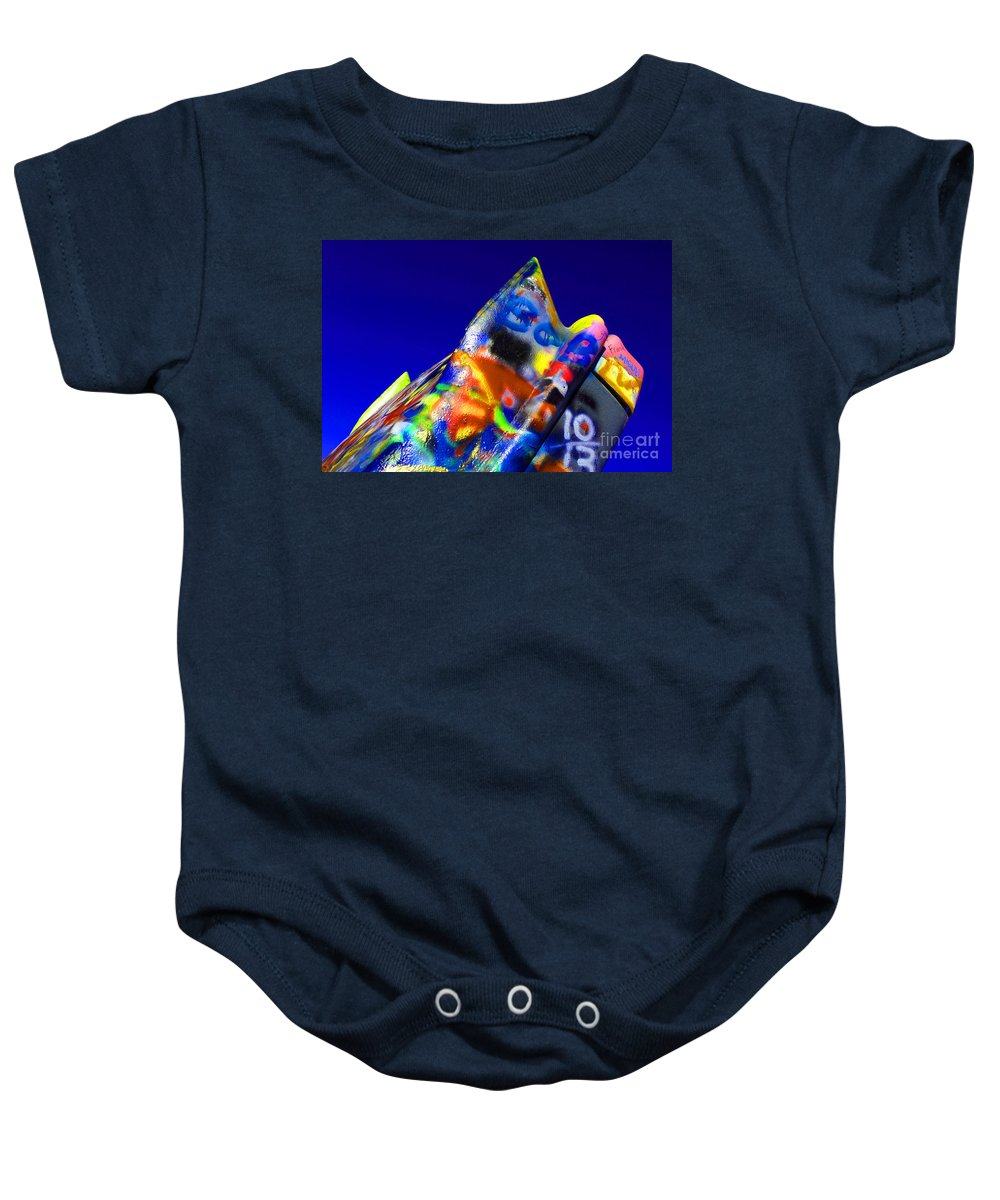 Cadillac Ranch Baby Onesie featuring the photograph Cadillac Ranch 2 by Bob Christopher
