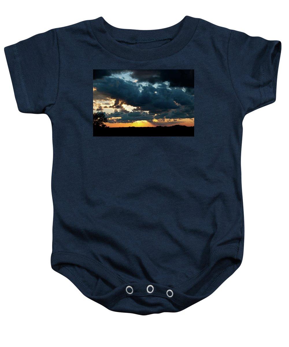 Sunrise Baby Onesie featuring the photograph Chestnut Ridge Sunset 2642 by Guy Whiteley