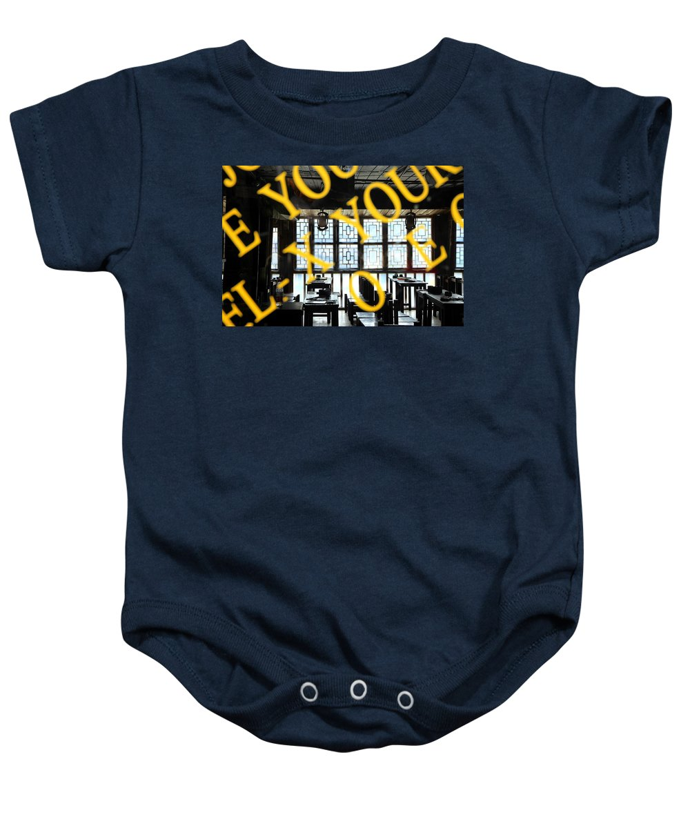 Chinese Baby Onesie featuring the photograph Chinese Restaurant by Valentino Visentini