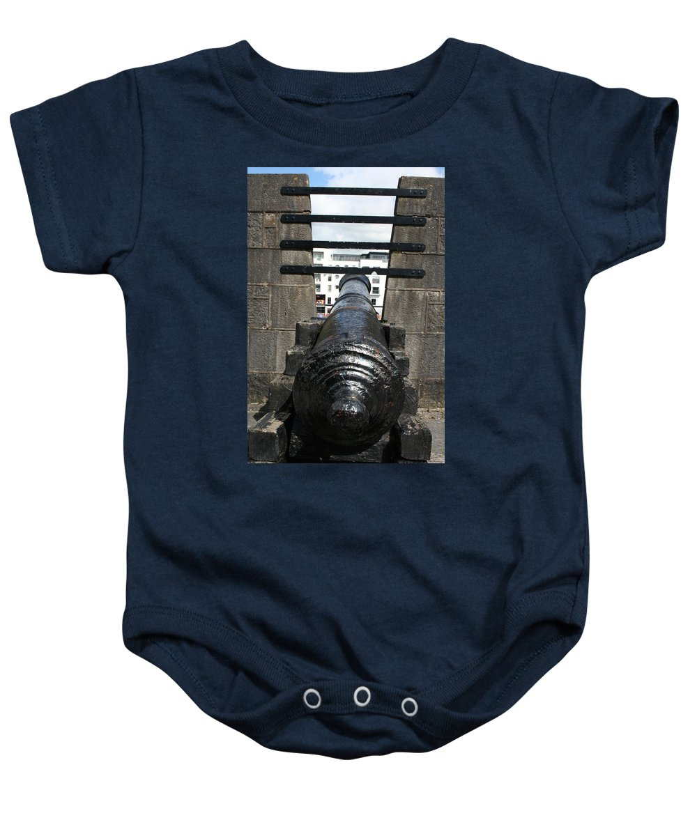 Cannon Baby Onesie featuring the photograph City 0020 by Carol Ann Thomas