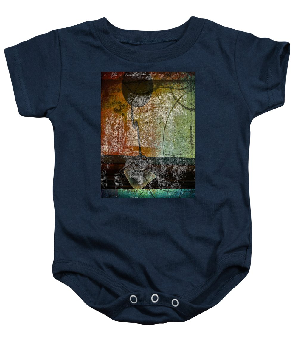 Abstract Baby Onesie featuring the photograph Conversation Decline by The Artist Project