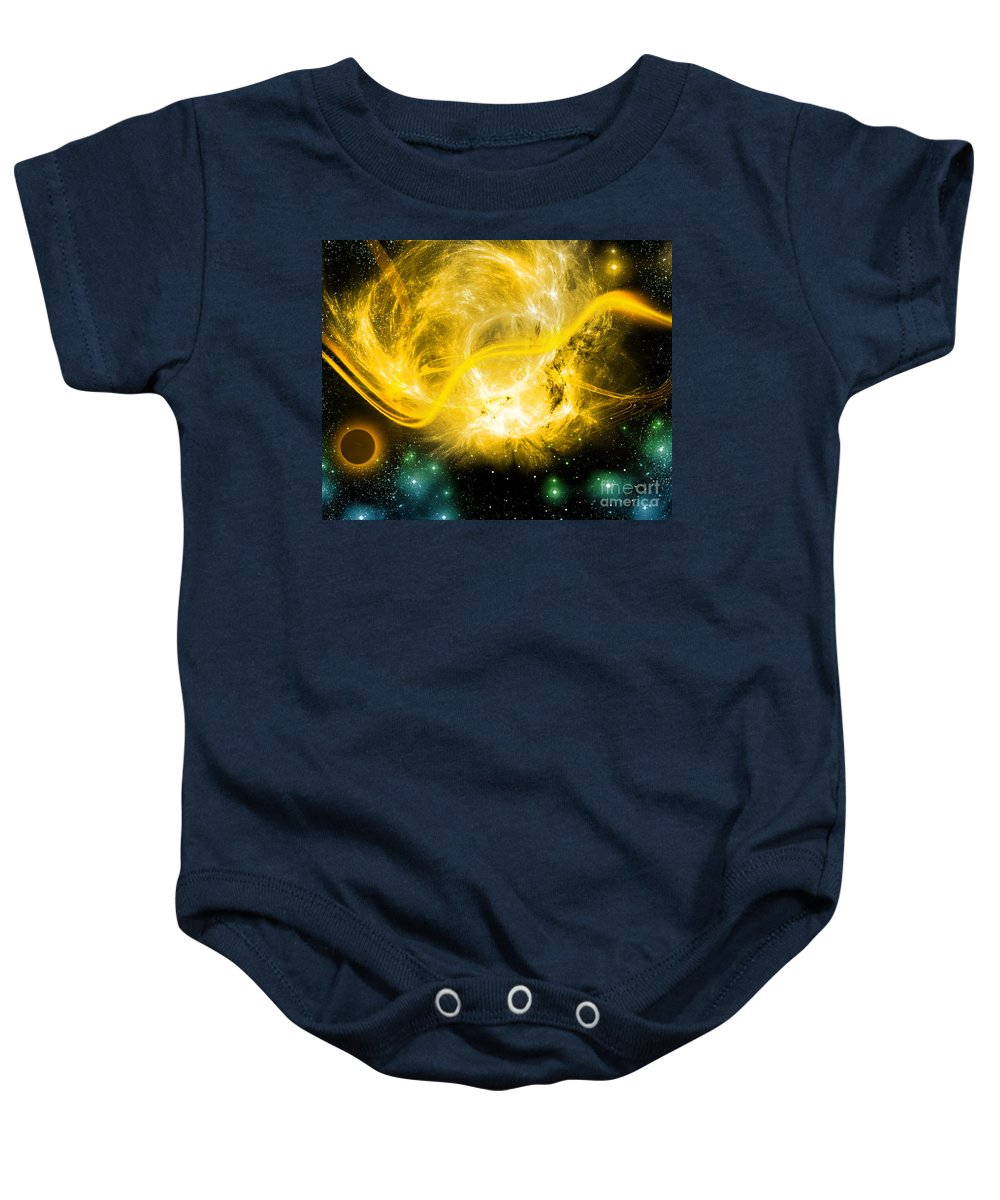 Baby Onesie featuring the digital art Cos 40 by Taylor Webb