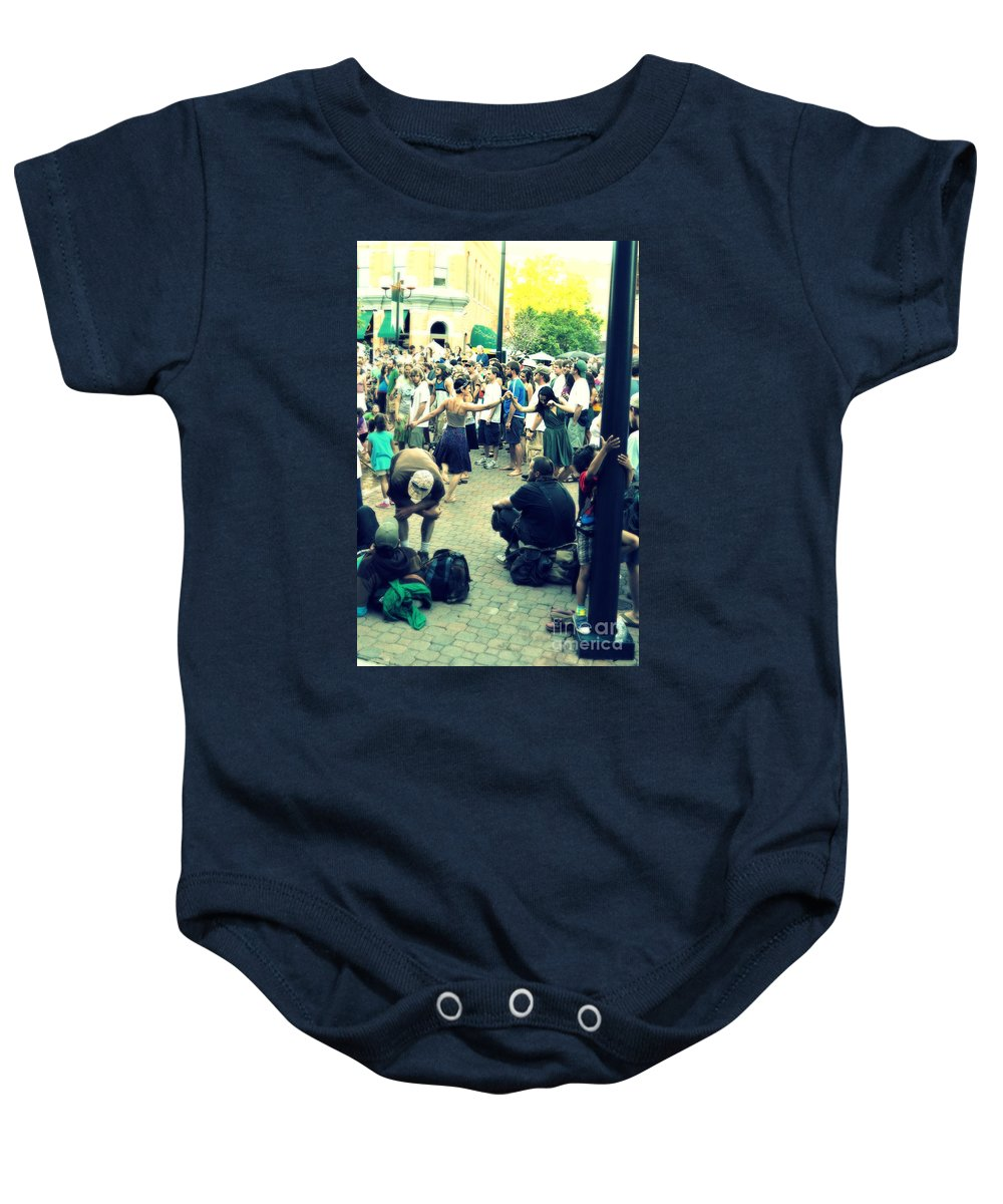 Dancing Baby Onesie featuring the photograph Dancing In The Street by Anjanette Douglas