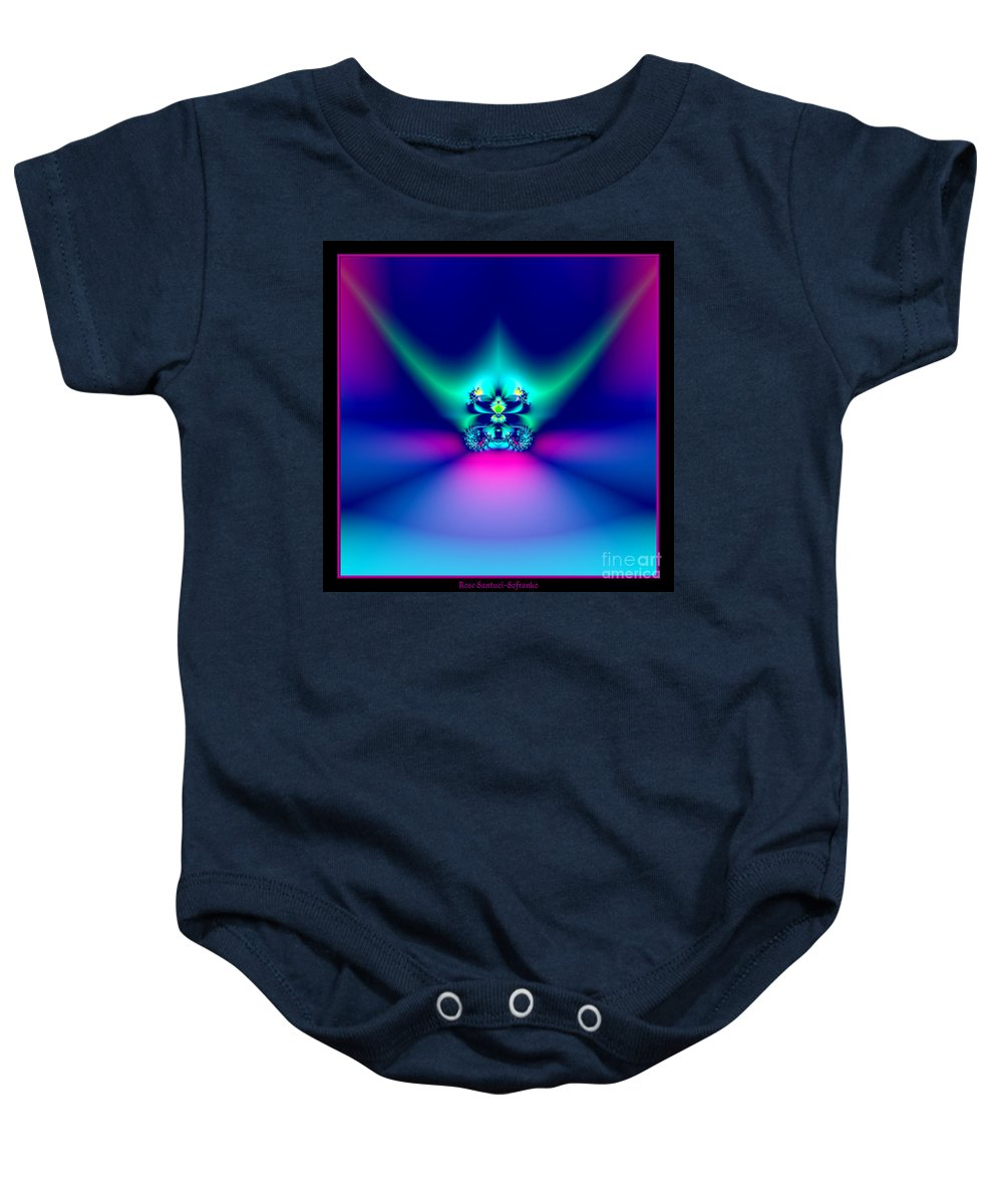 Crowns Baby Onesie featuring the photograph Fractal 9 Crown by Rose Santuci-Sofranko