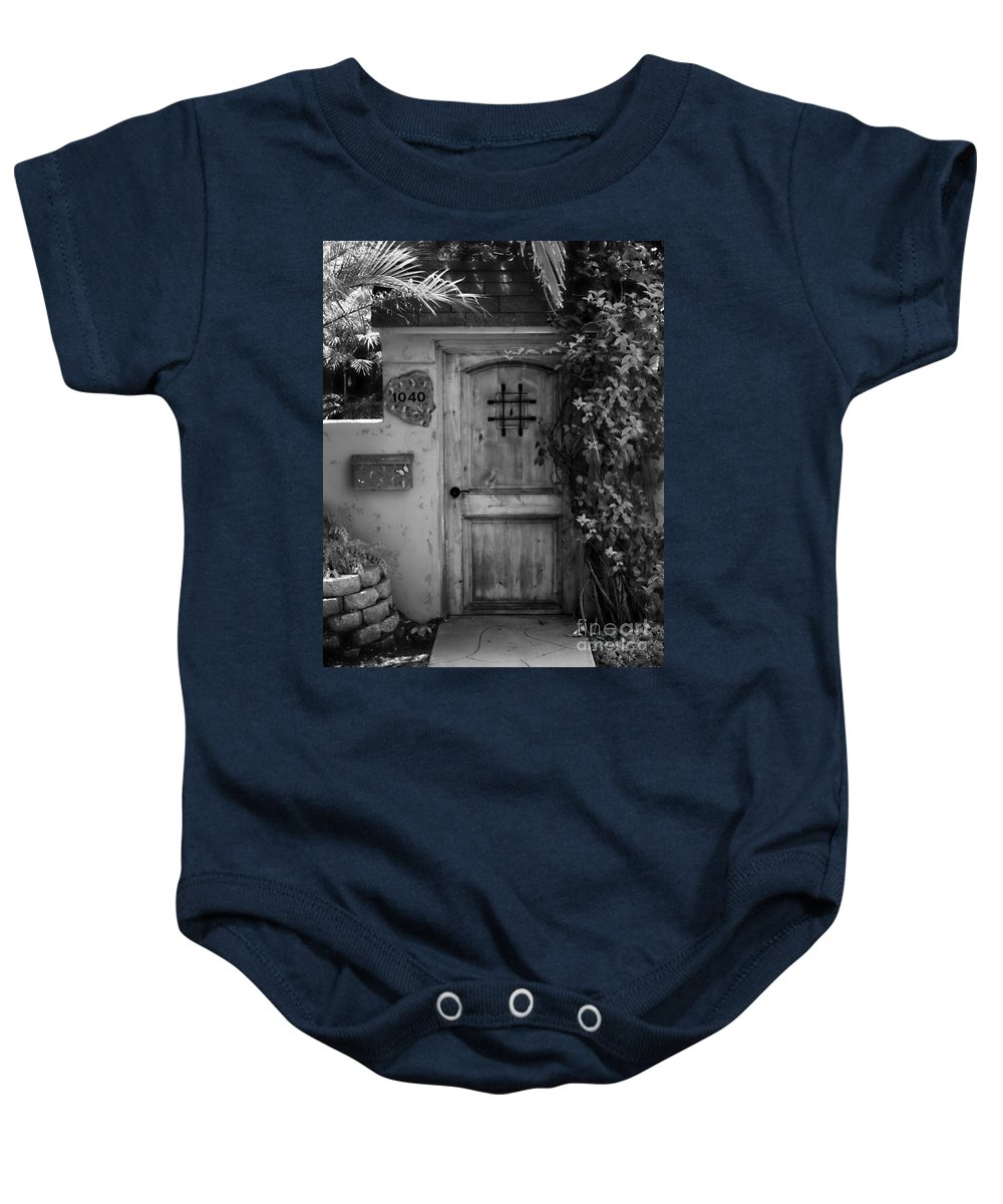 Door Baby Onesie featuring the photograph Garden Doorway 2 by Perry Webster
