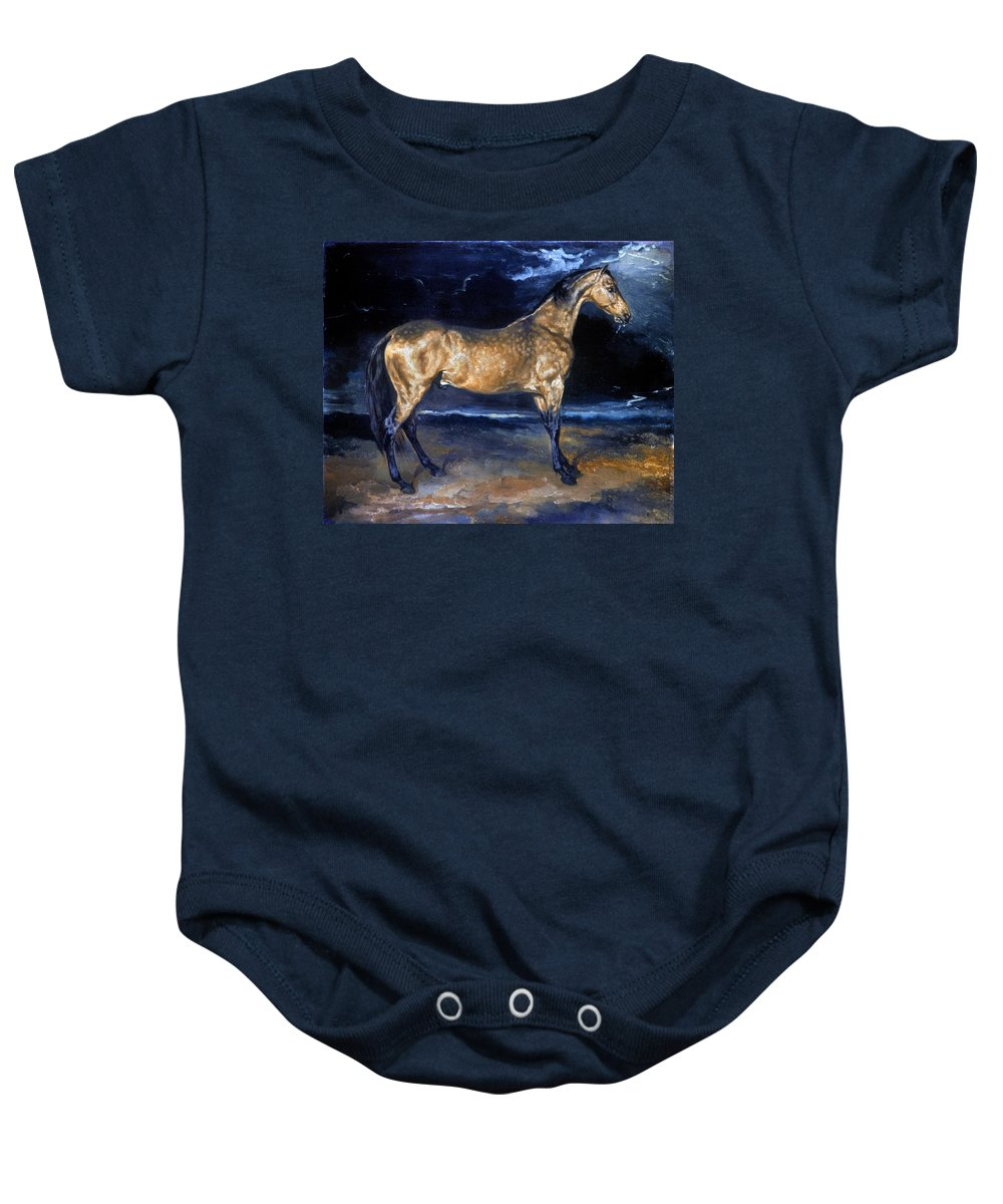 19th Century Baby Onesie featuring the photograph Gericault: Horse by Granger