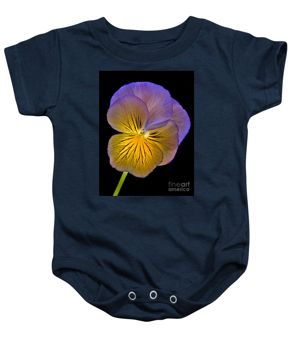 Peony Baby Onesie featuring the photograph Glowing Peony by Susan Candelario