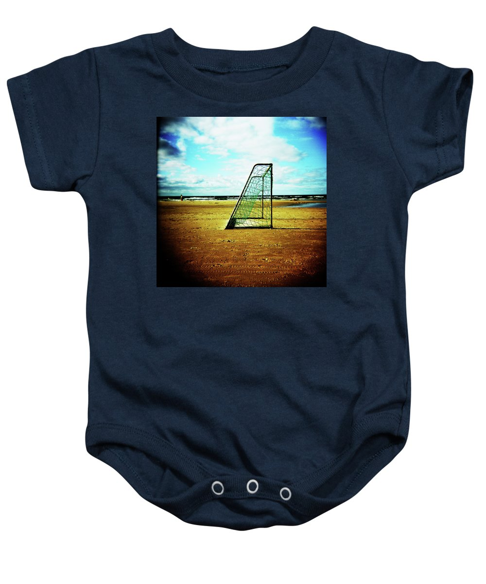 Holga Baby Onesie featuring the photograph Goal by Olivier De Rycke