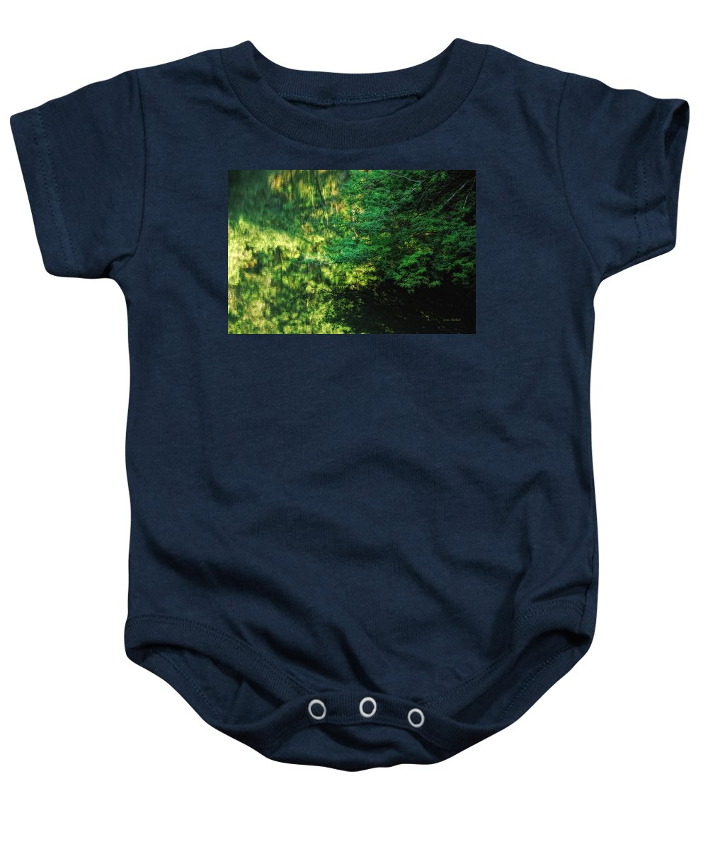 Tree Baby Onesie featuring the photograph Green Dream by Donna Blackhall