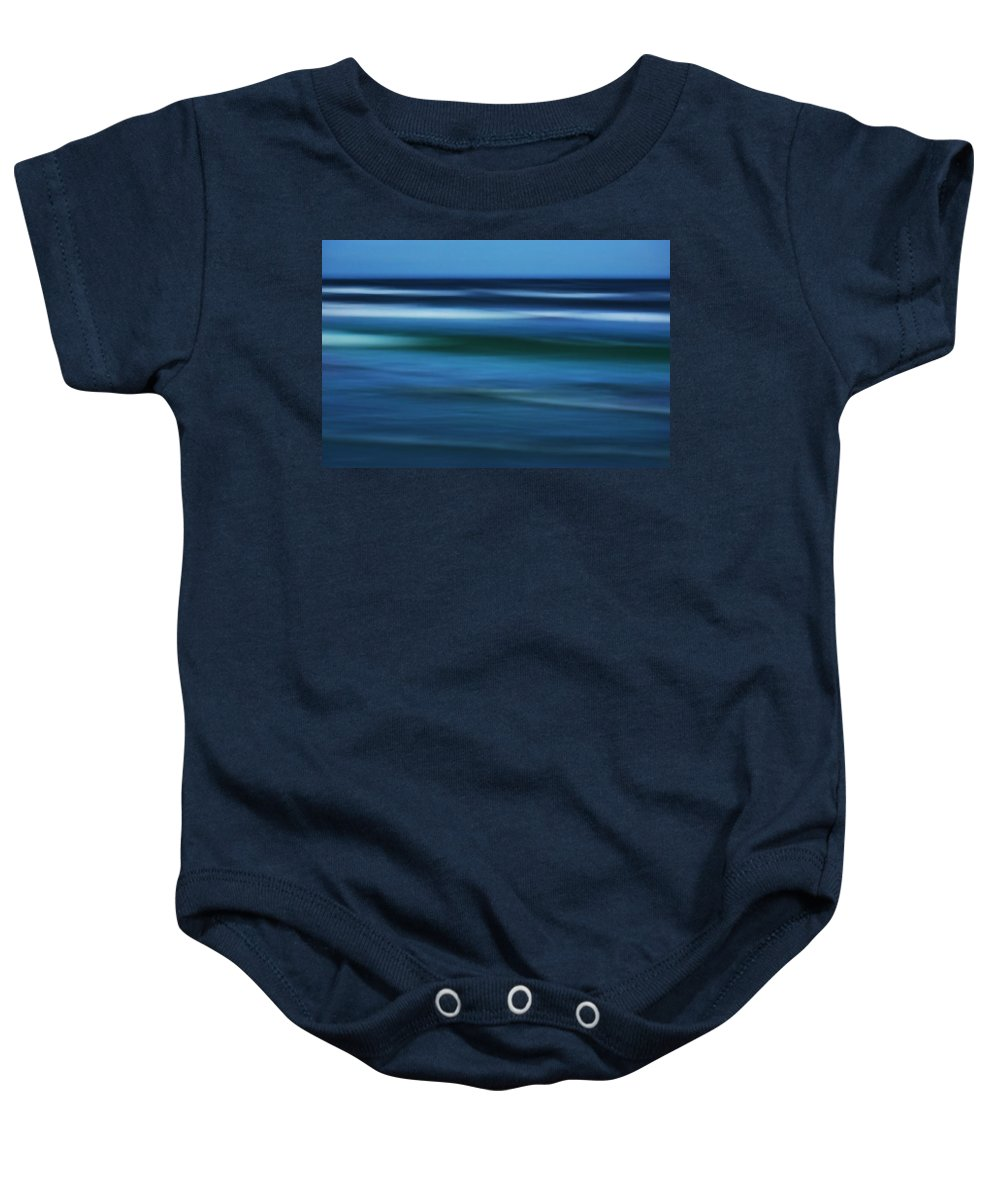 Corpus Christi Baby Onesie featuring the photograph Gulf Of Mexico by Marilyn Hunt