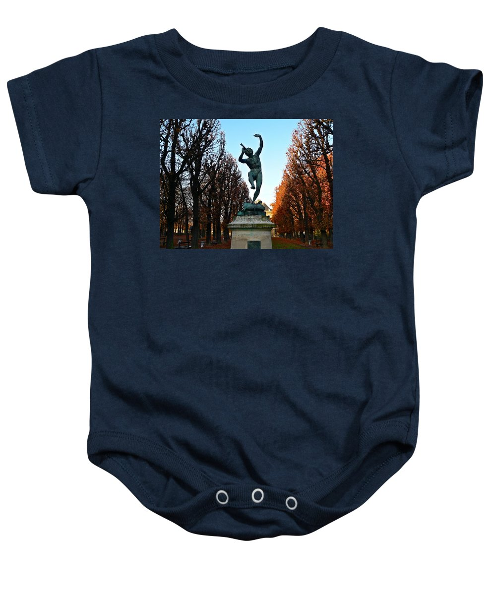 Paris Baby Onesie featuring the photograph Happy To Be In Paris by Eric Tressler