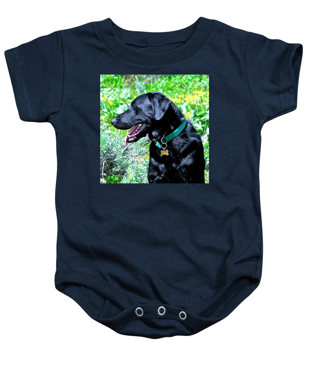 Swan Valley's Murphy Baby Onesie featuring the photograph In His Element by Eric Tressler