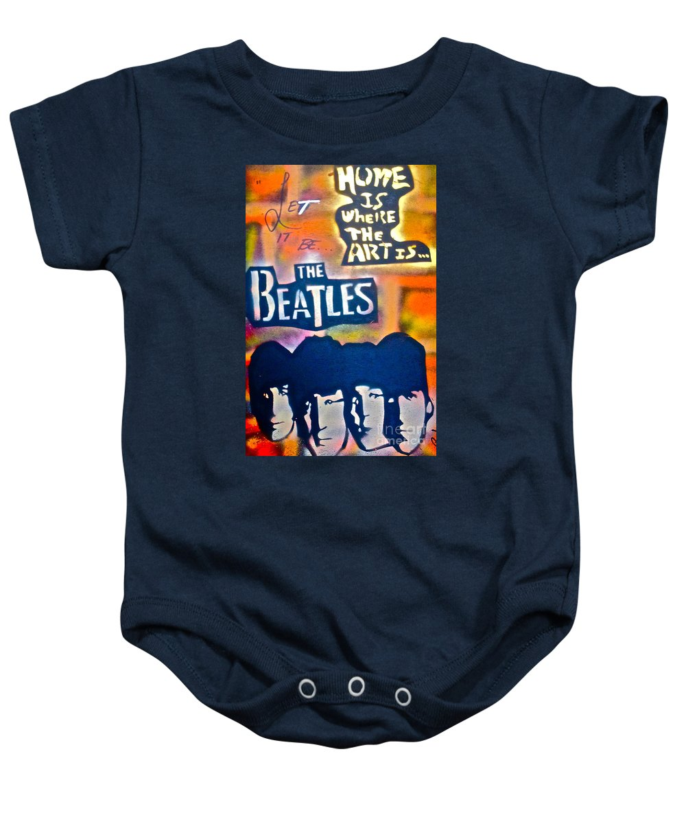 Graffiti Baby Onesie featuring the painting Let It Be by Tony B Conscious