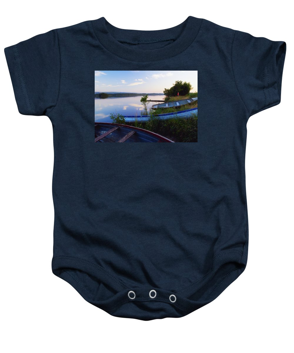 Body Of Water Baby Onesie featuring the photograph Lough Erne, County Fermanagh, Ireland by The Irish Image Collection