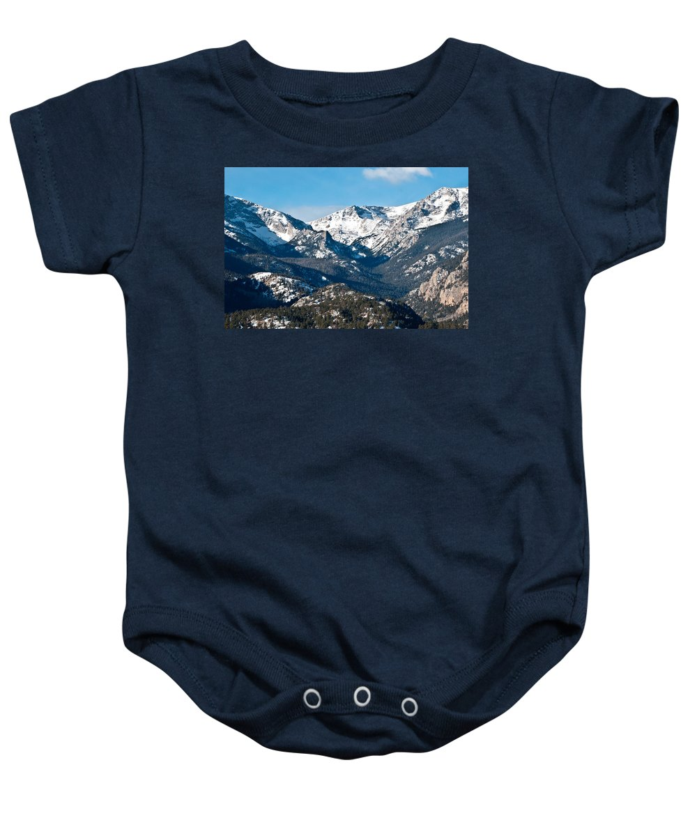 Mountains Baby Onesie featuring the photograph Majestic Rockies by Colleen Coccia
