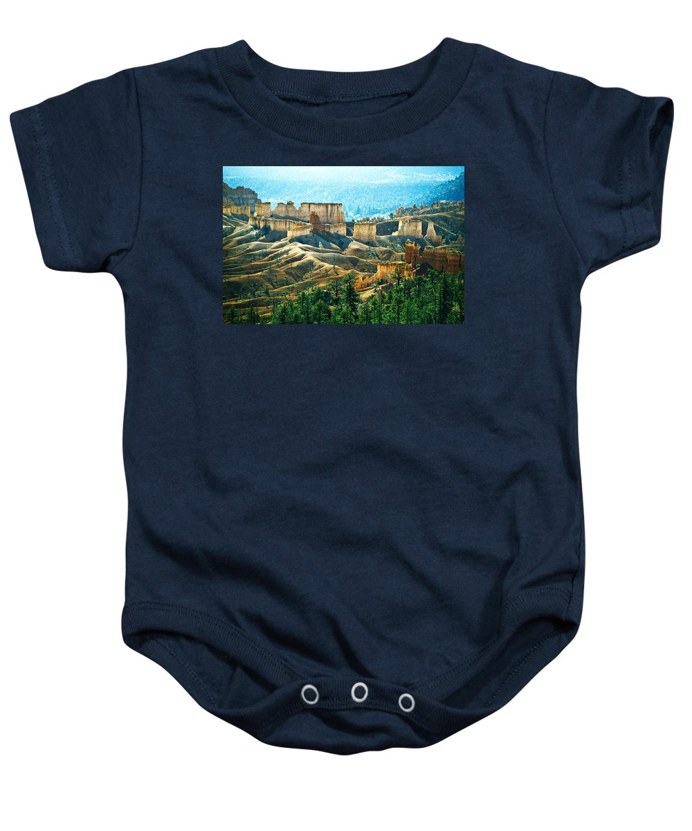 Car Baby Onesie featuring the photograph Markagunt Plateau In Zion National by John Doornkamp