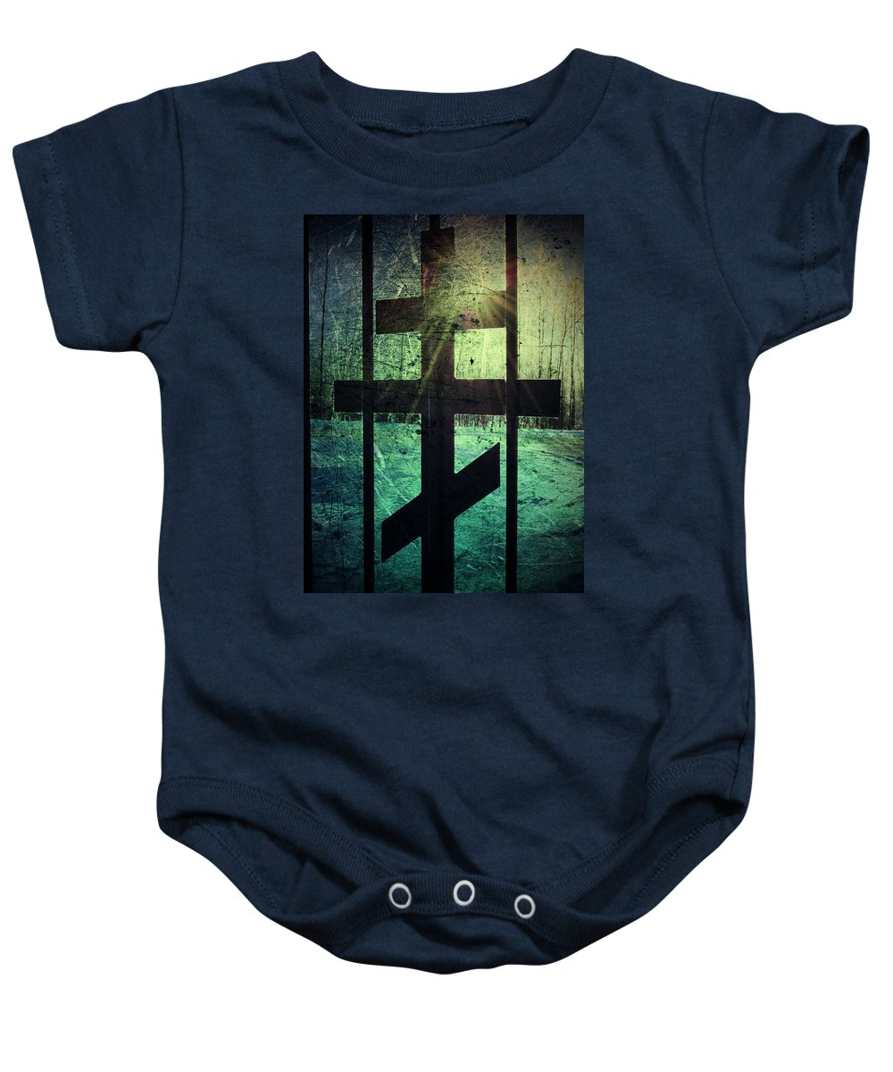 Jerry Cordeiro Baby Onesie featuring the photograph Meet At The Gate by The Artist Project