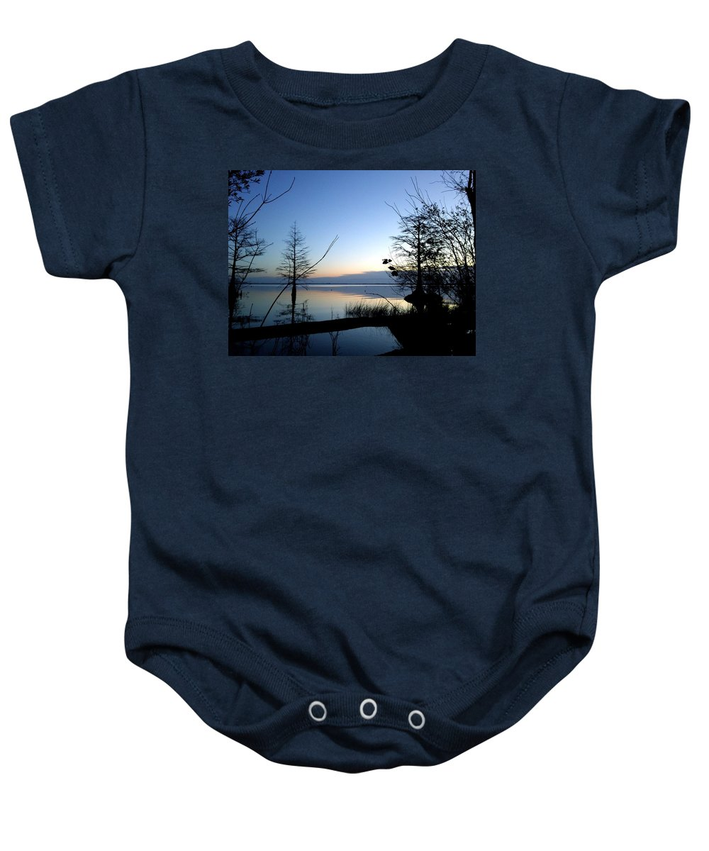 Sunrise Baby Onesie featuring the photograph Morning Serenity by Brett Winn