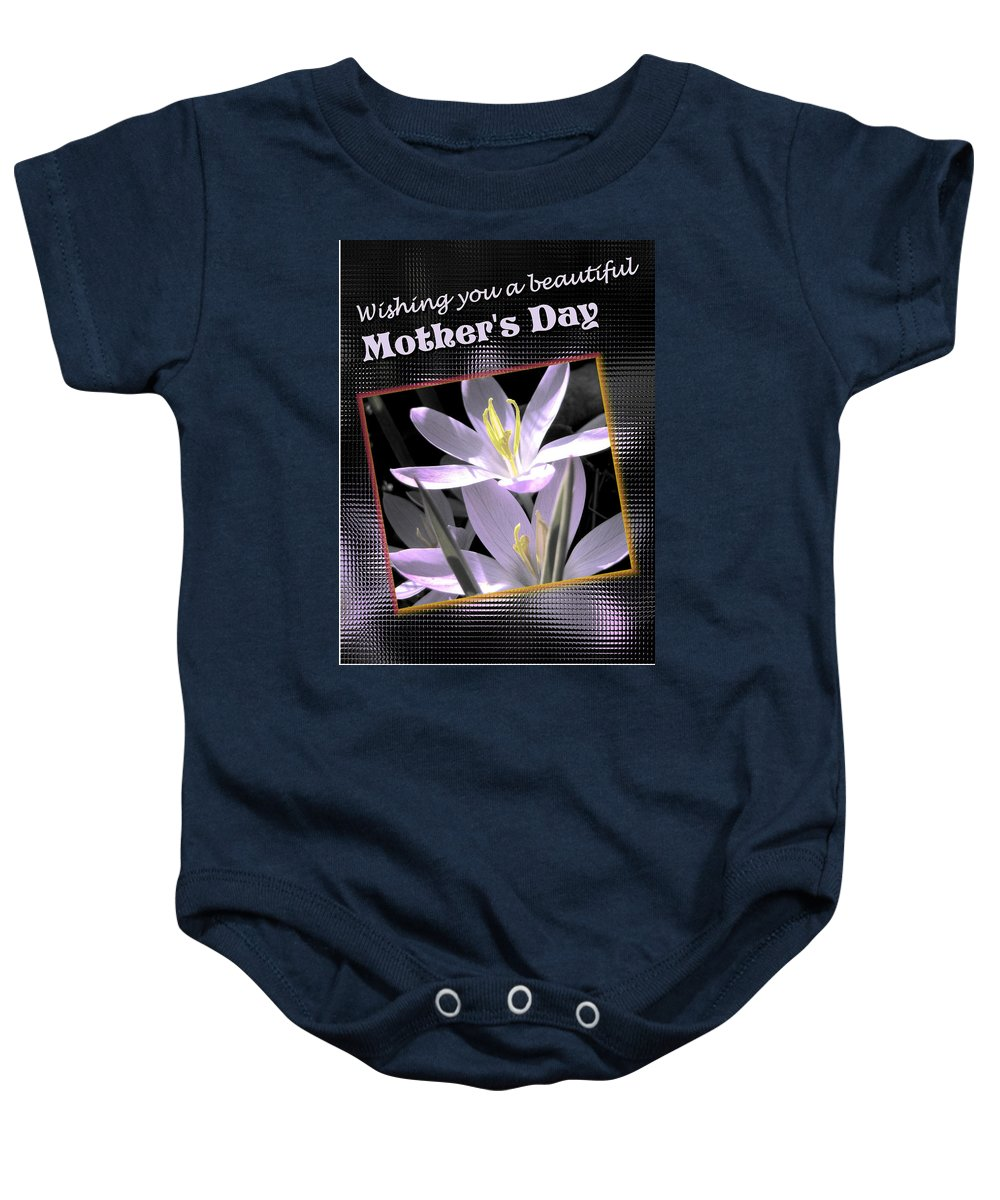 Greeting Card Baby Onesie featuring the digital art Mothers Day Wish by Susan Kinney