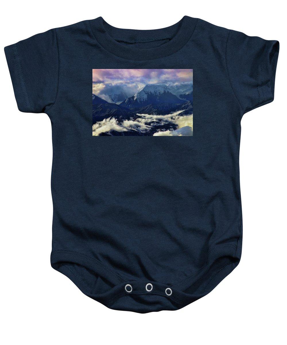 Mount Brooks Baby Onesie featuring the photograph Mount Brooks by Rick Berk