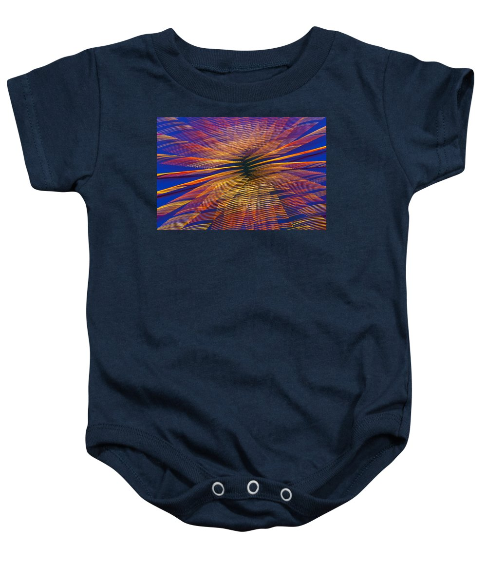 Carnival Baby Onesie featuring the photograph Moving Abstract Lights by Garry Gay