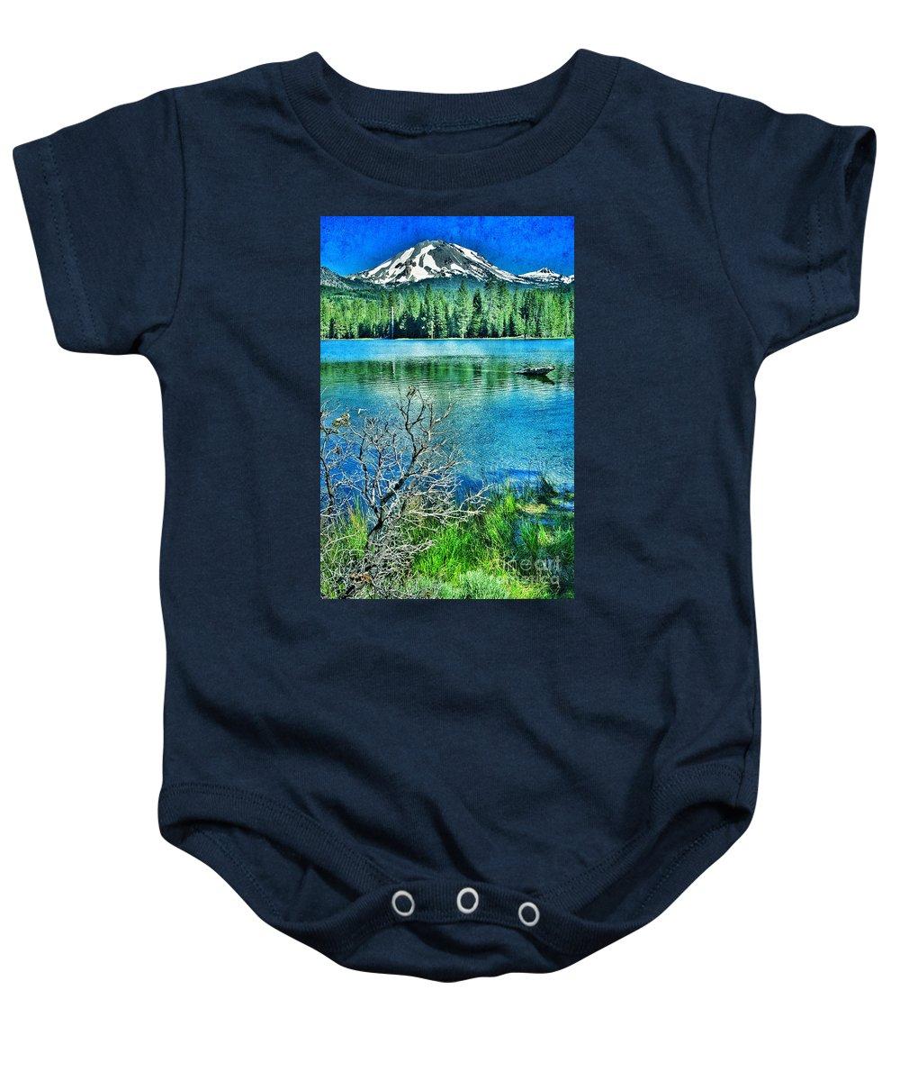 Lassen Mountain Baby Onesie featuring the photograph Mt Lassen by Jill Battaglia