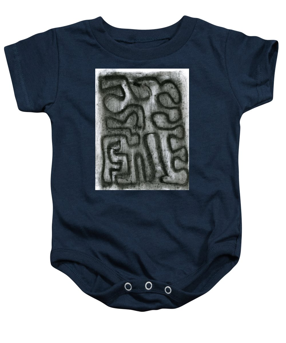 Mystical Raise Baby Onesie featuring the painting Mystical Raise by Taylor Webb