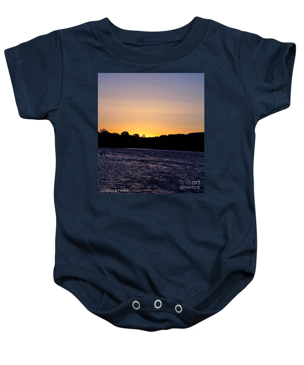 Minnesota Baby Onesie featuring the photograph Natural Pastels by Susan Herber