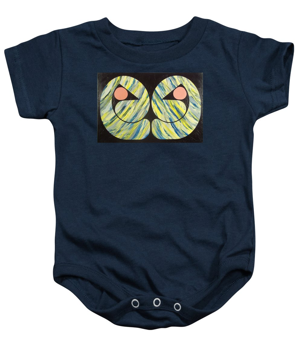 Abstract Baby Onesie featuring the painting Only Seekers Find by James Hamilton