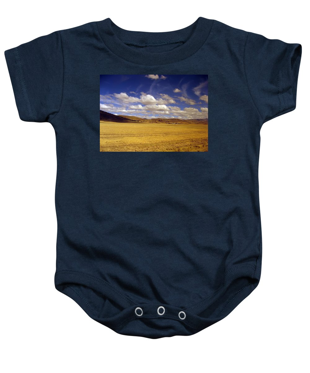 High Plain Baby Onesie featuring the photograph Peruvian High Plains 2 by RicardMN Photography