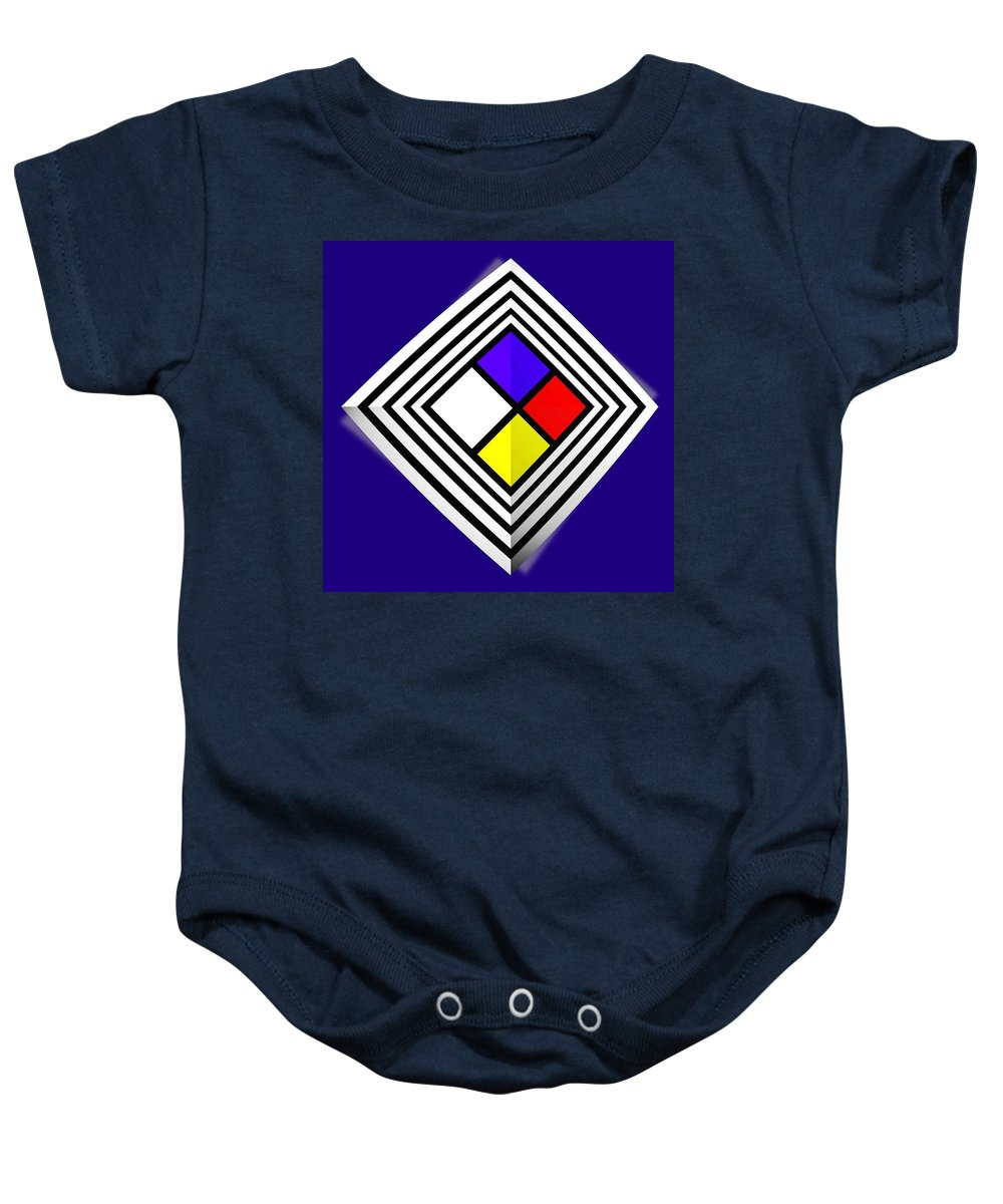 Diamond Baby Onesie featuring the painting Primary Object by Charles Stuart