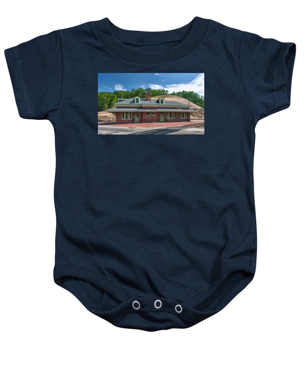 Guy Whiteley Photography Baby Onesie featuring the photograph Ridgway Depot 16747 by Guy Whiteley