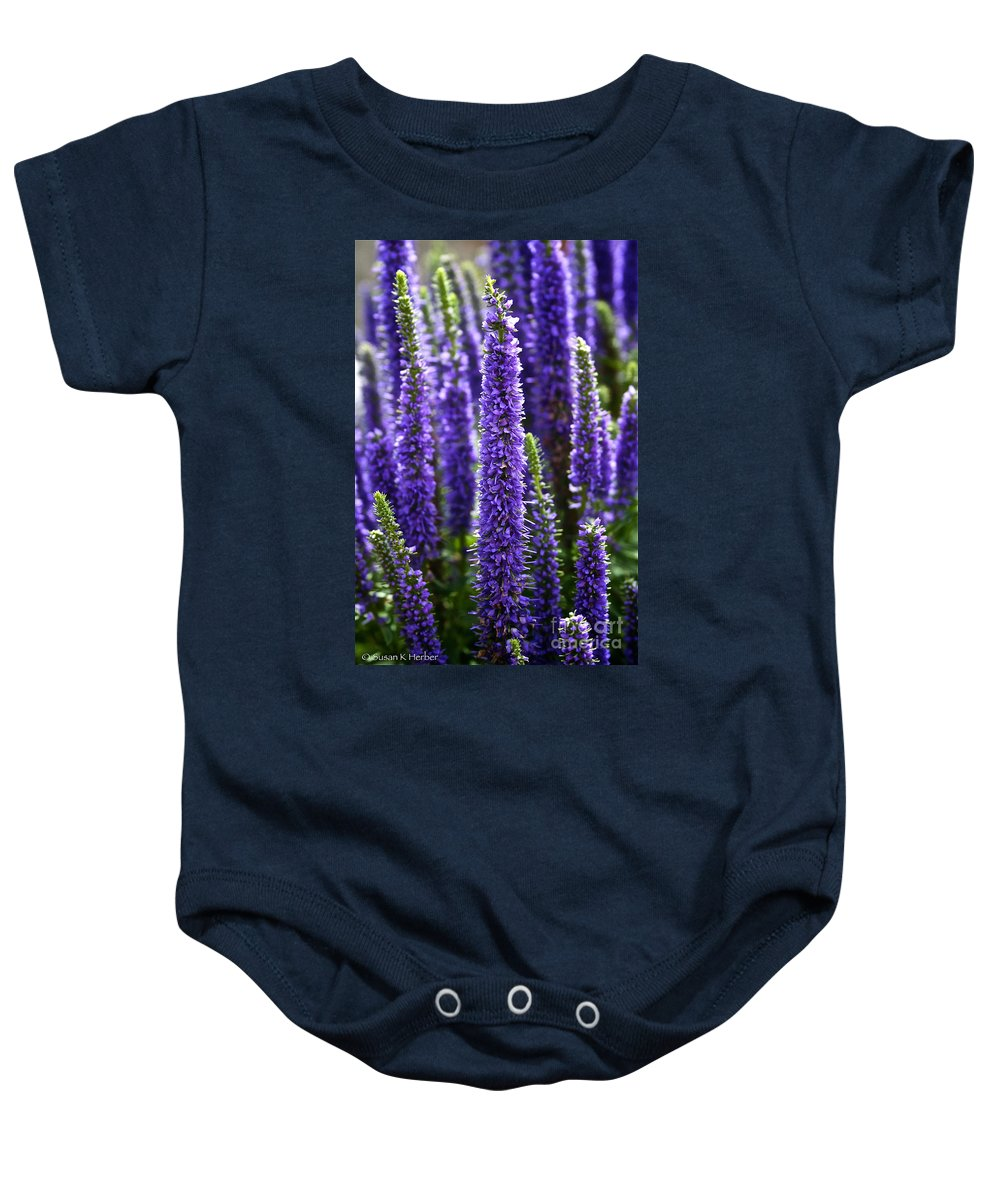 Garden Baby Onesie featuring the photograph Royal Candles by Susan Herber
