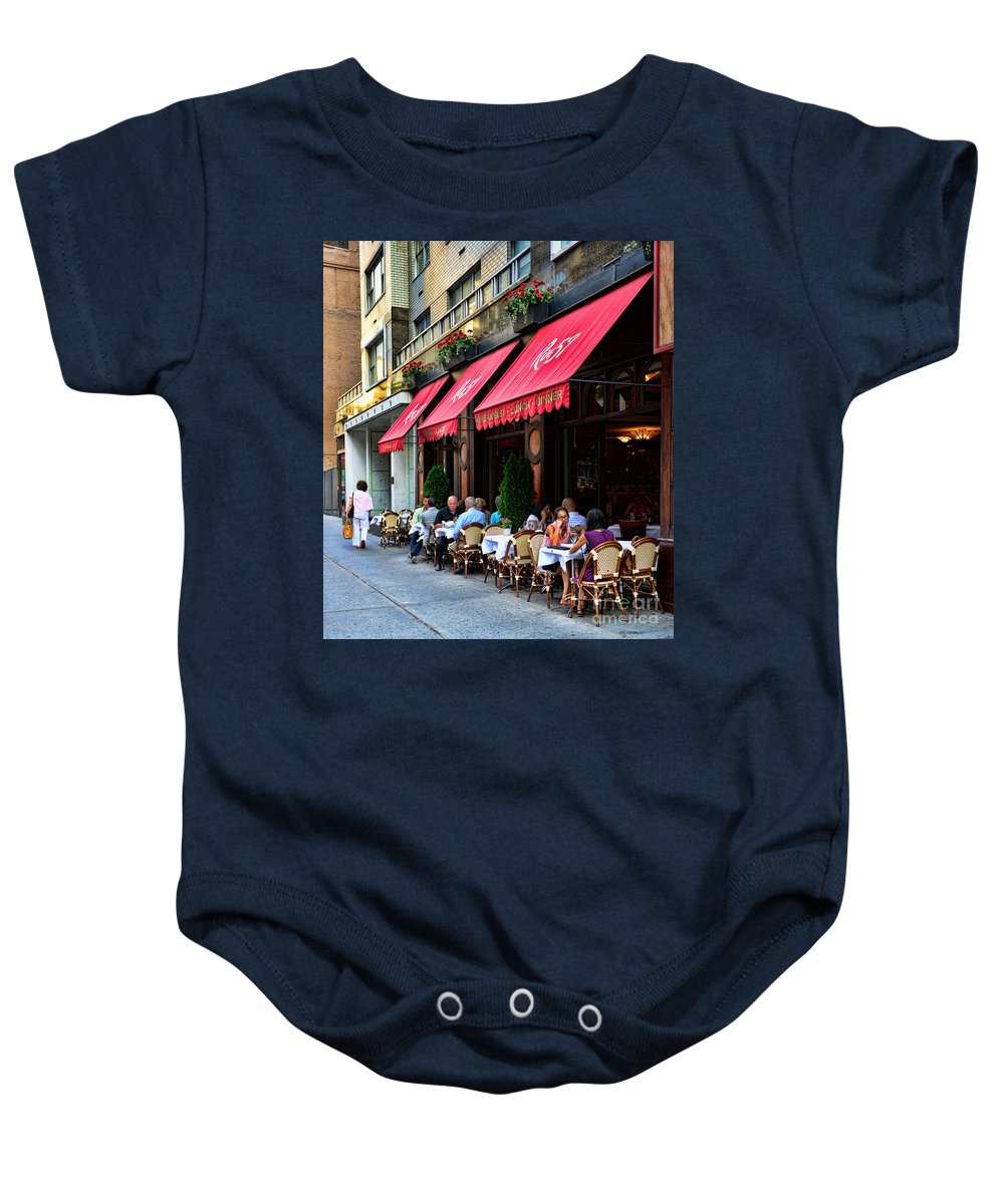 Rue 57 Baby Onesie featuring the photograph Rue 57 Nyc by Paul Ward