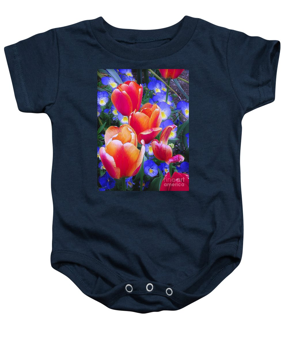 Tulips Baby Onesie featuring the photograph Shining Bright by Rory Sagner