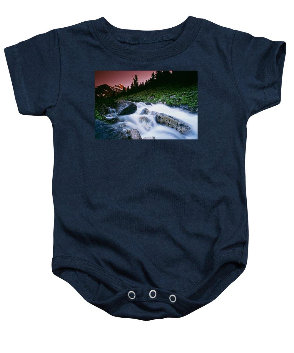 Banff National Park Baby Onesie featuring the photograph Small Stream, Skoki Valley, Banff by Bilderbuch