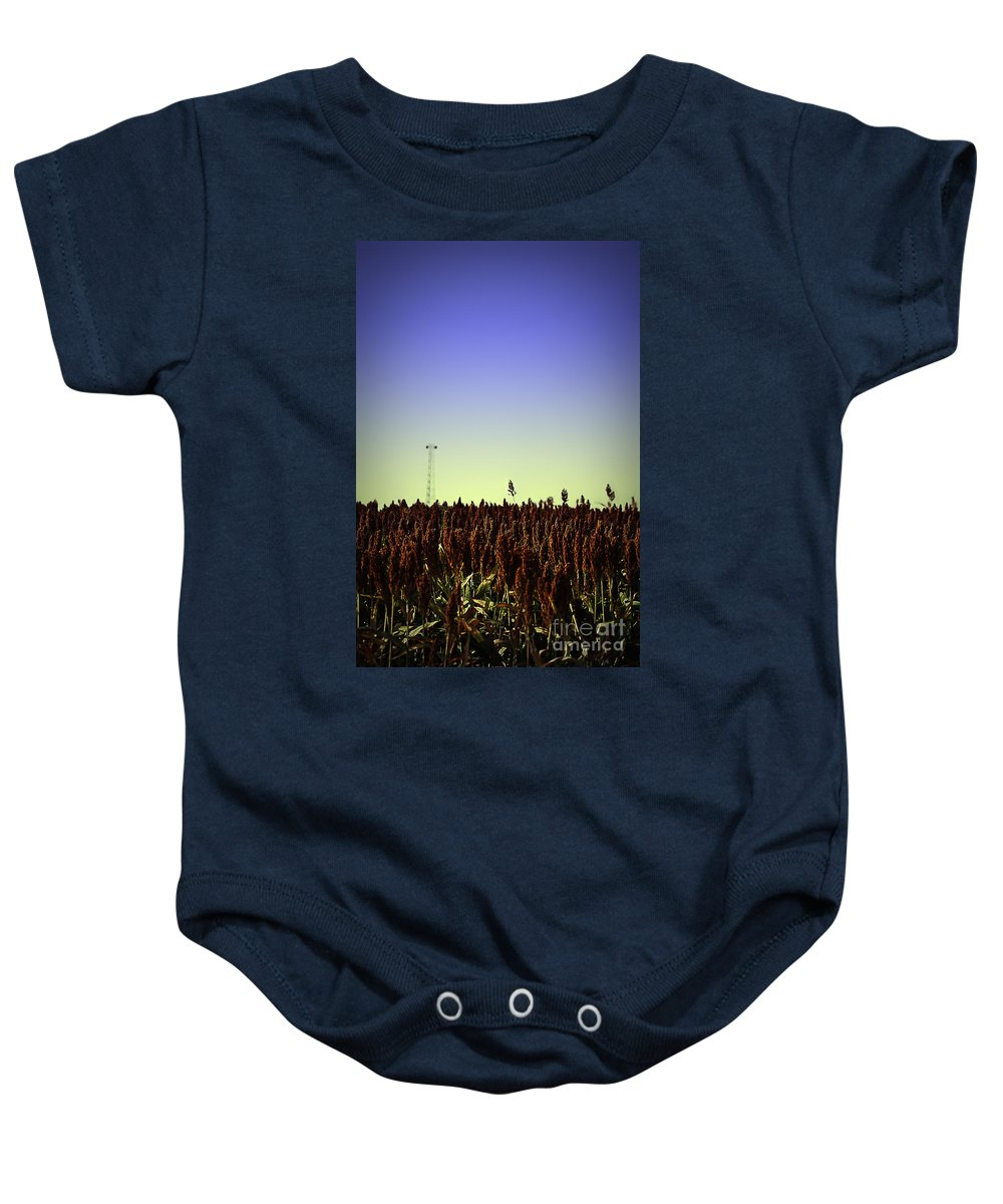 Sugar Baby Onesie featuring the photograph Sorghum Fields Forever by Trish Mistric